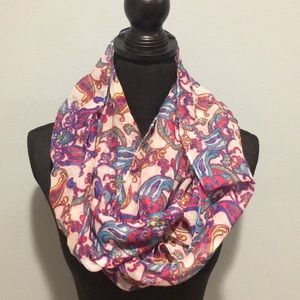 Accessories - Multi-colored Paisley infinity scarf